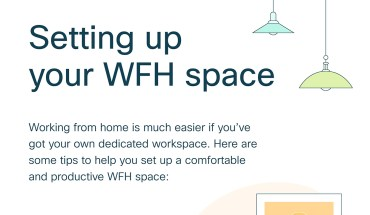 How to Set Up Your WFH Space - Infographic