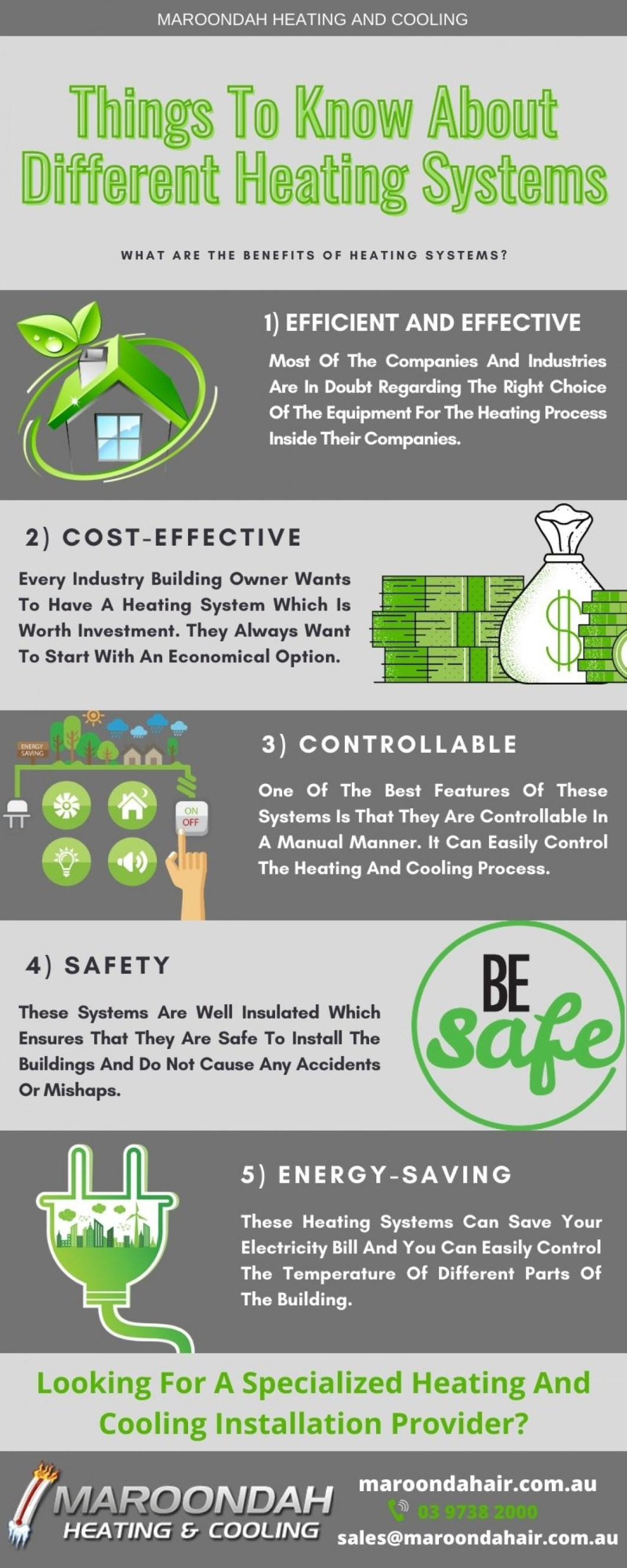 5 Best Benefits Of Heating And Cooling System At Your Place - Infographic