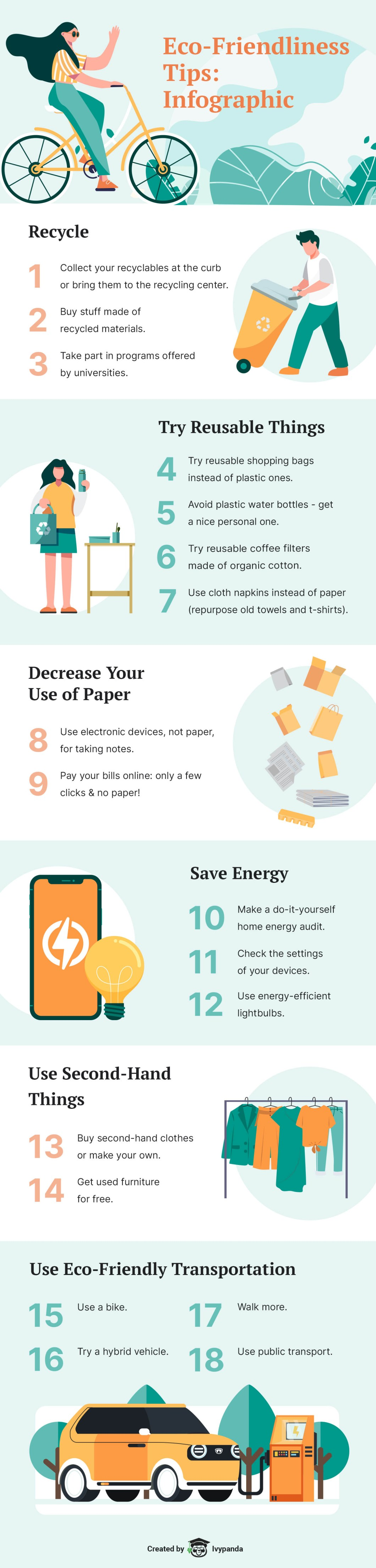 18 Green Tips for Students - Infographic