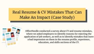 Resume & CV Mistakes That Can Make An Impact - Infographic