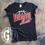 Basketball Mom Glitter Front