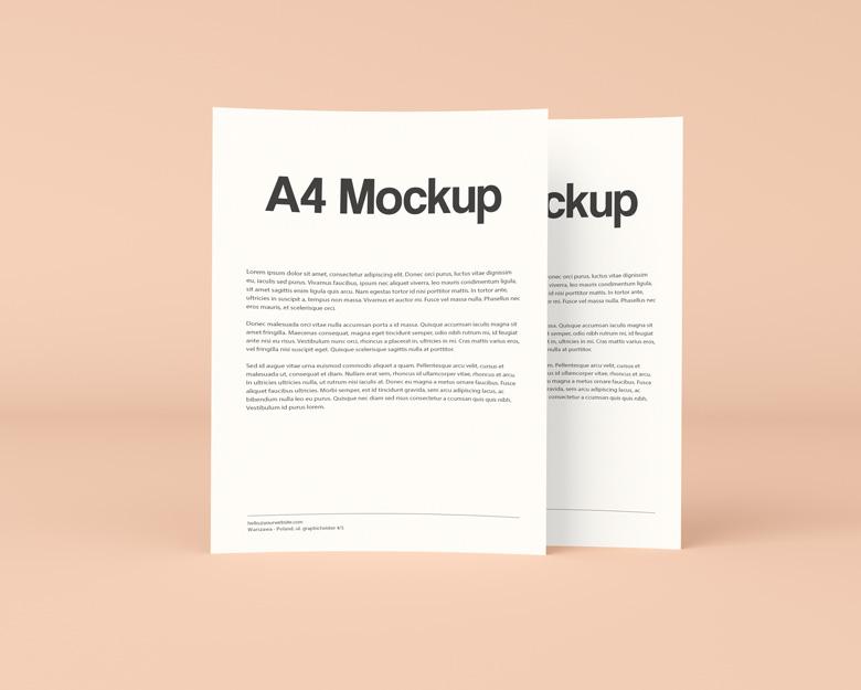 Download Double A4 Mockup - Mockup Templates Images Vectors Fonts ...