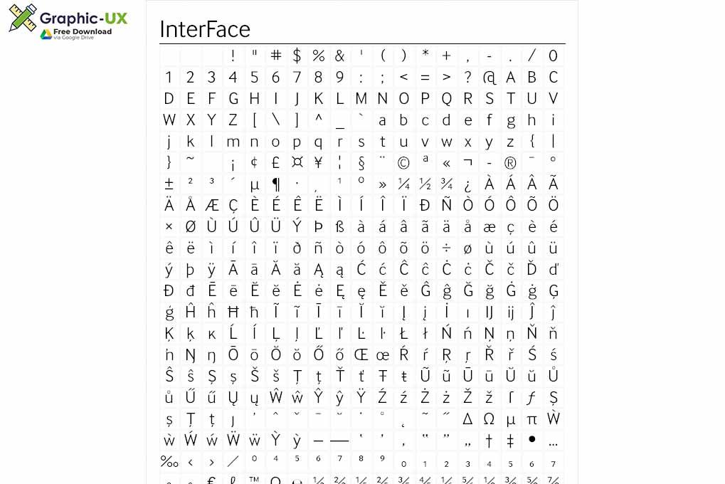 InterFace Font