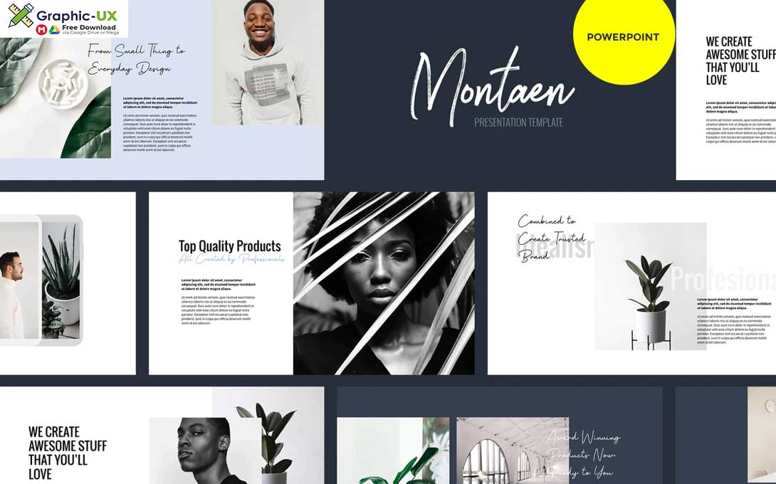 Montaen - Simple & Minimal Powerpoint Template