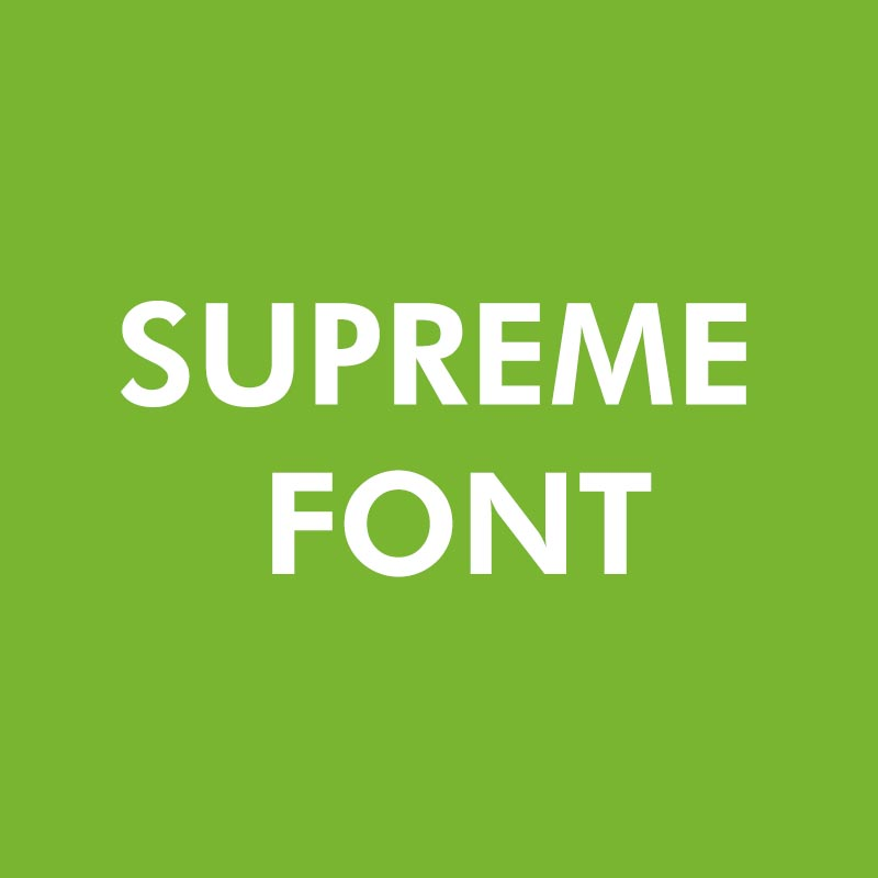 Supreme Font Free Download