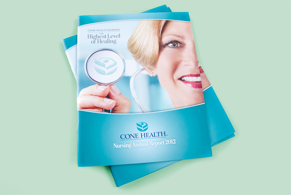 Cone Health - Nursing Annual Report (2012) | Graphic Visual Solutions - Printed Materials