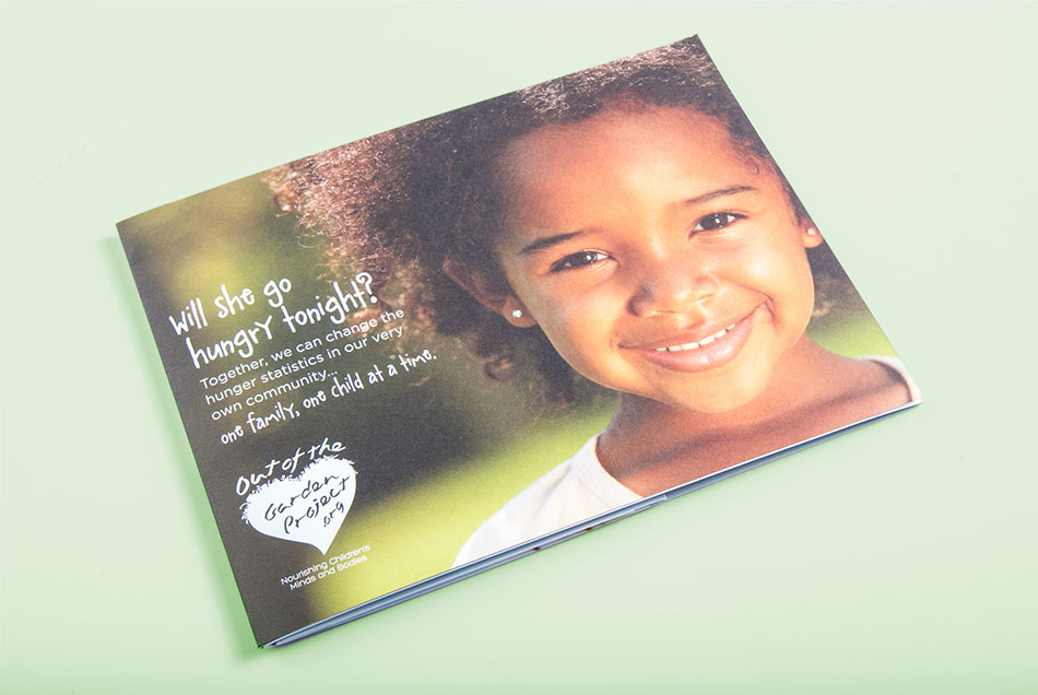 Out of the Garden Project - Self Mailer | Graphic Visual Solutions - Direct Mail Marketing