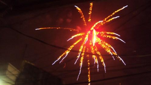 Palm tree fireworks