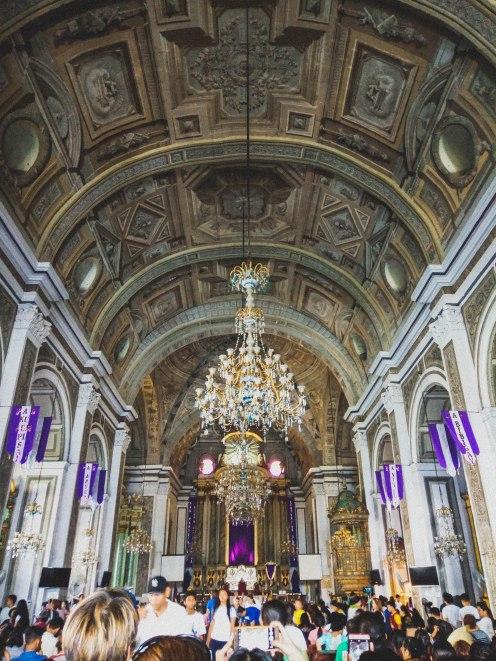 The design of San Agustin Church's interior is a beauty.