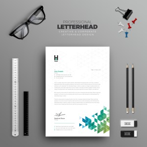 Ares Professional Corporate Letterhead Template