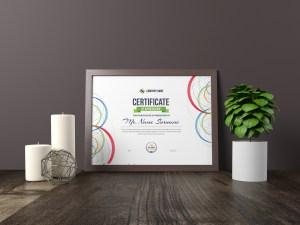 Poseidon Landscape Certificate Template