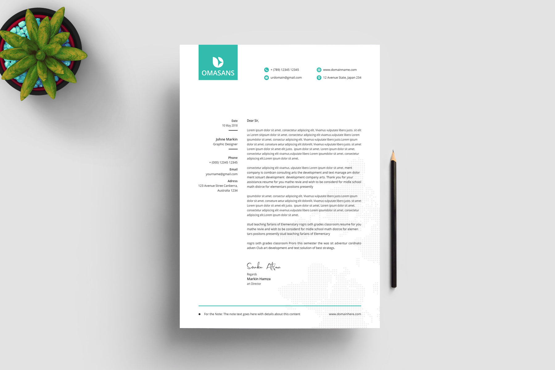 Classy Corporate Letterhead Design Graphic Yard Graphic