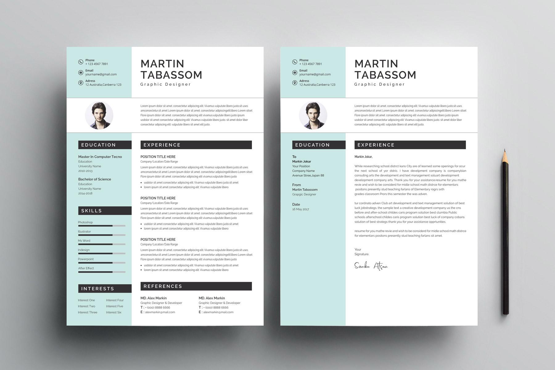 modern cv design templates