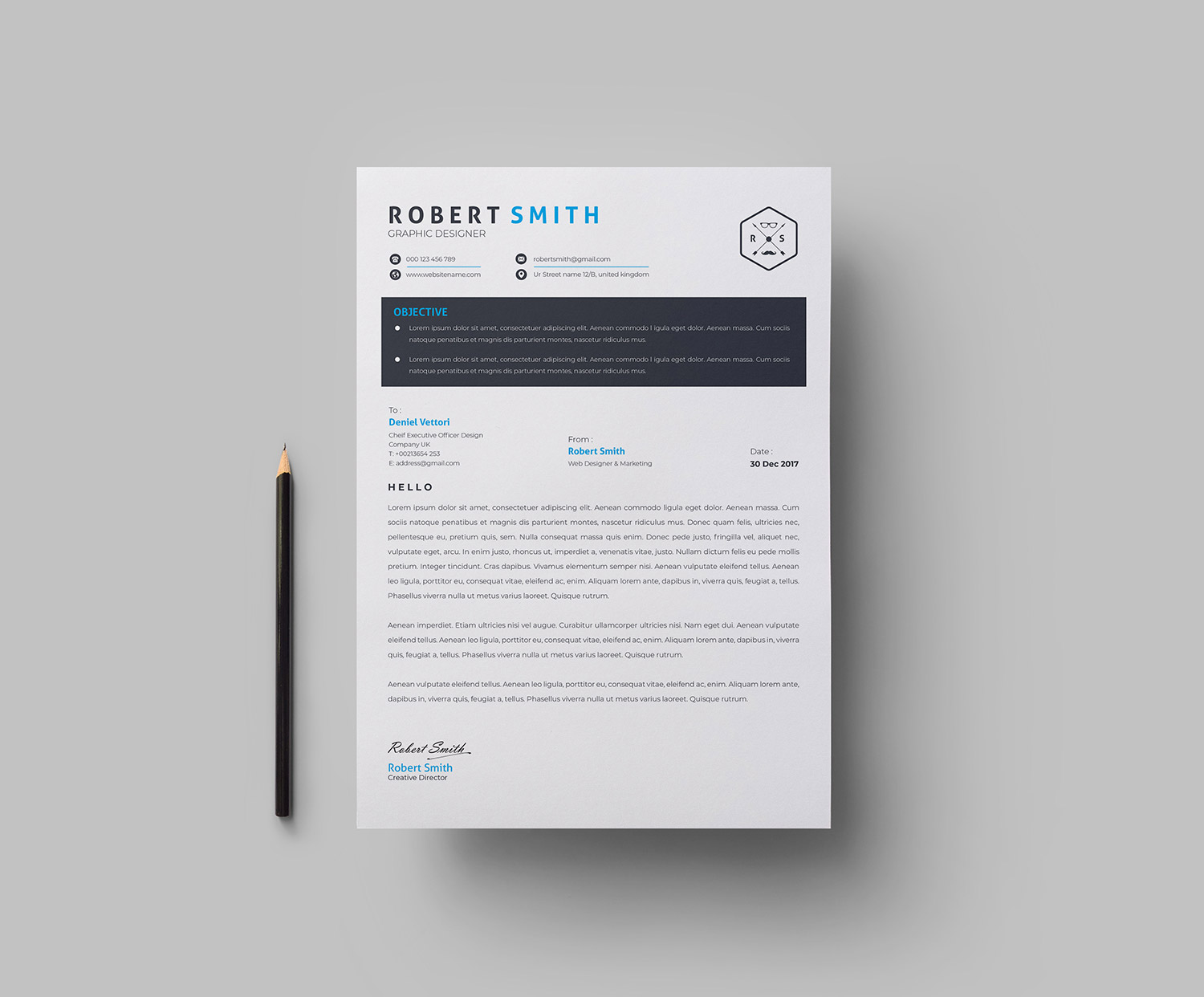 a4 modern cv template  u00b7 graphic yard