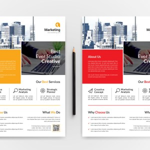 Marketing A4 PSD Flyer Templates