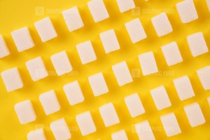 Top view of the refined sugar geometric pattern