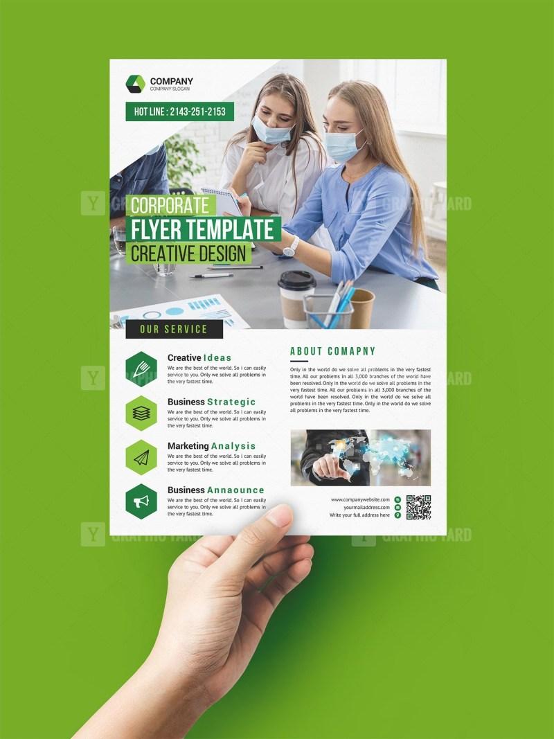 Covid Print Flyer Templates