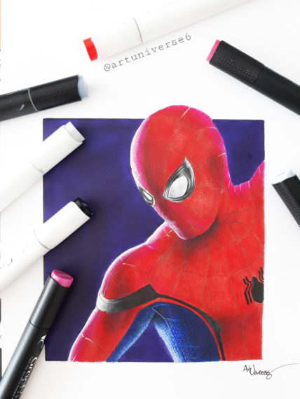 Things To Draw With Markers : things, markers, Technical, Tutorial, Realistic, Spiderman, Graph'it, Marker