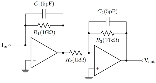 small resolution of transimpedance amplifiers open hardware from the kandel lab proposed transimpedance amplifier schematic