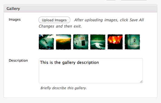 Example GPP Slideshow add gallery page