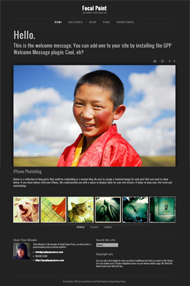 Focal point photo theme for WordPress