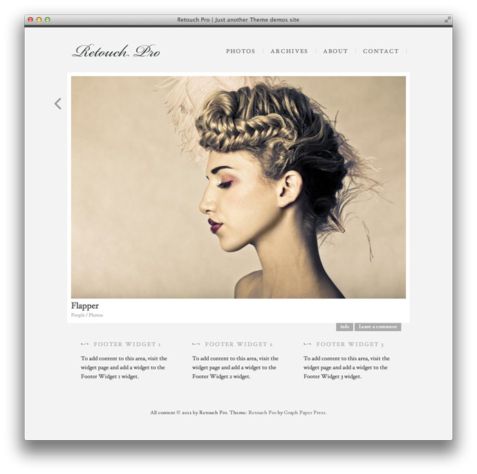 Retouch Pro WordPress theme