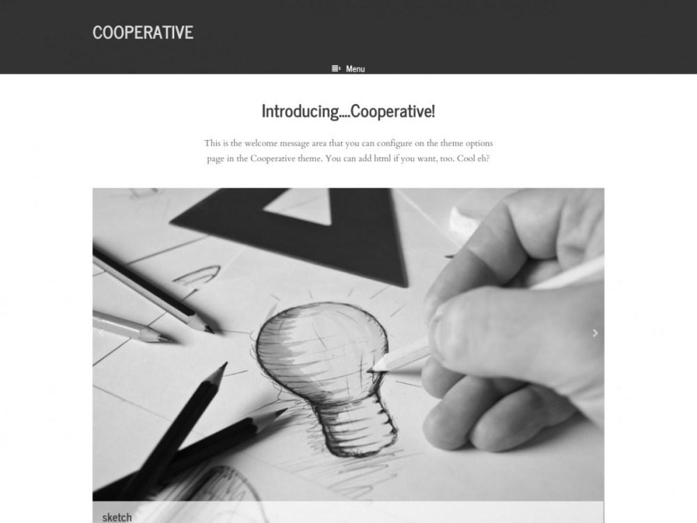 cooperative minimalist wordpress theme graph paper press