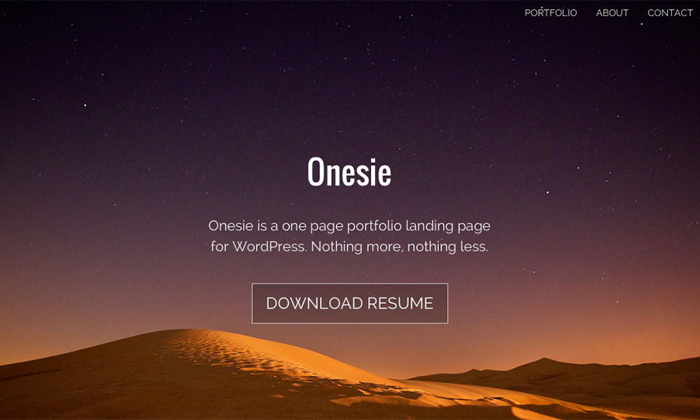 Onesie WordPress theme