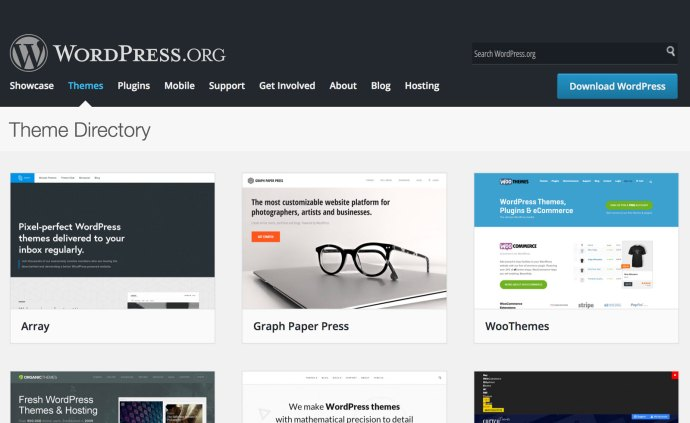 Commercial WordPress themes