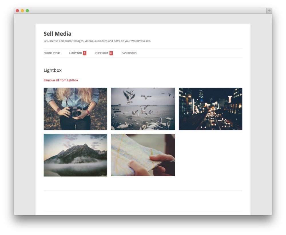 wordpress-photo-cart-lightbox-page