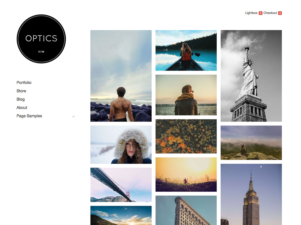 Optics free WordPress theme