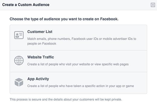 choosing facebook audience type
