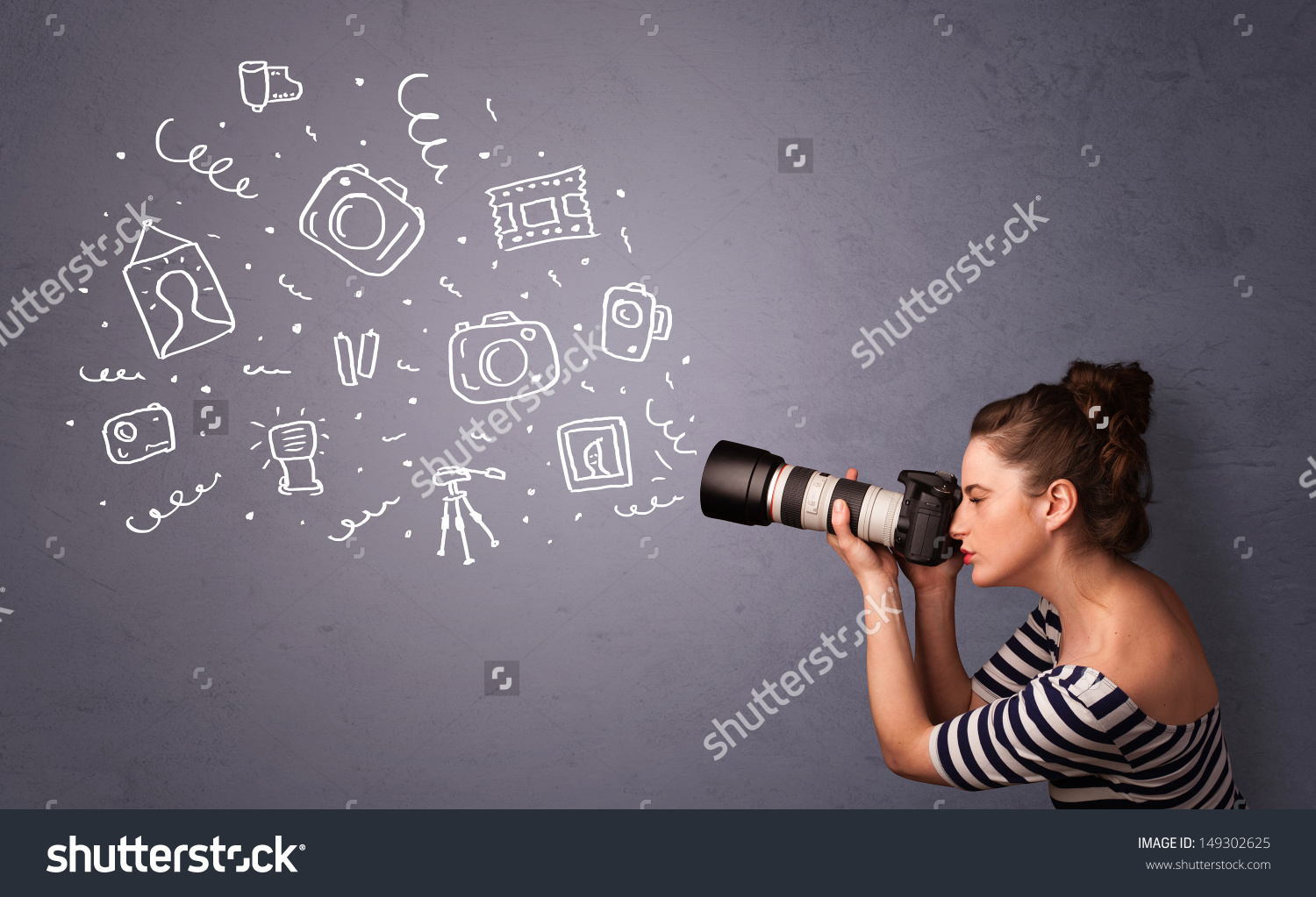 Shutterstock image with full watermark