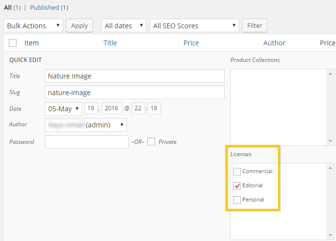 Applying a license to a Sell Media product