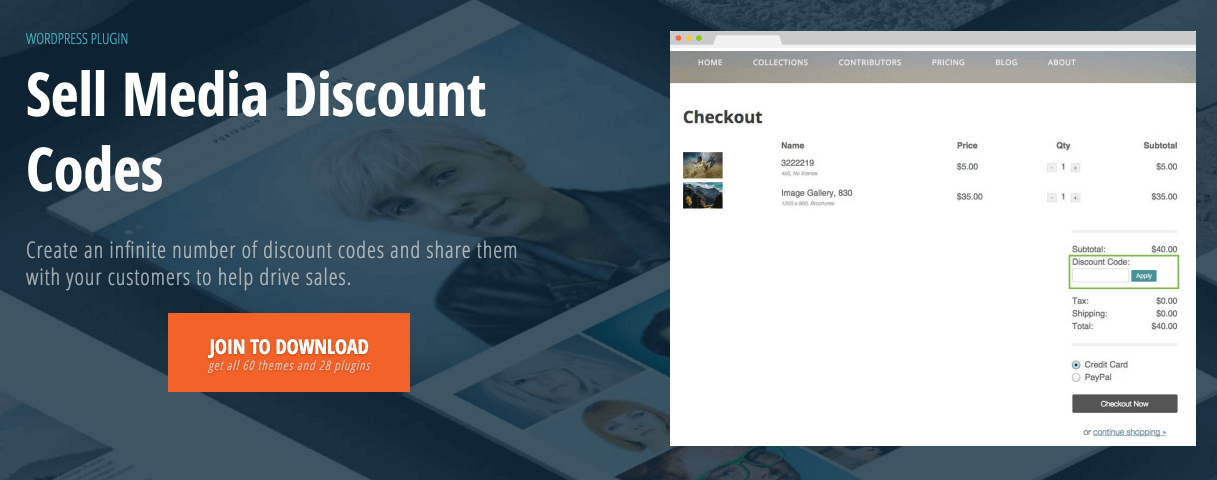 The Sell Media Discount Codes extension.