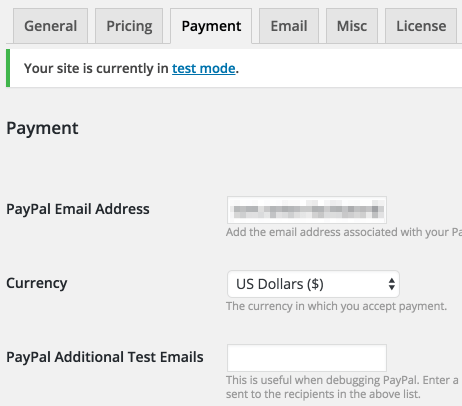 The Sell Media Payments tab.