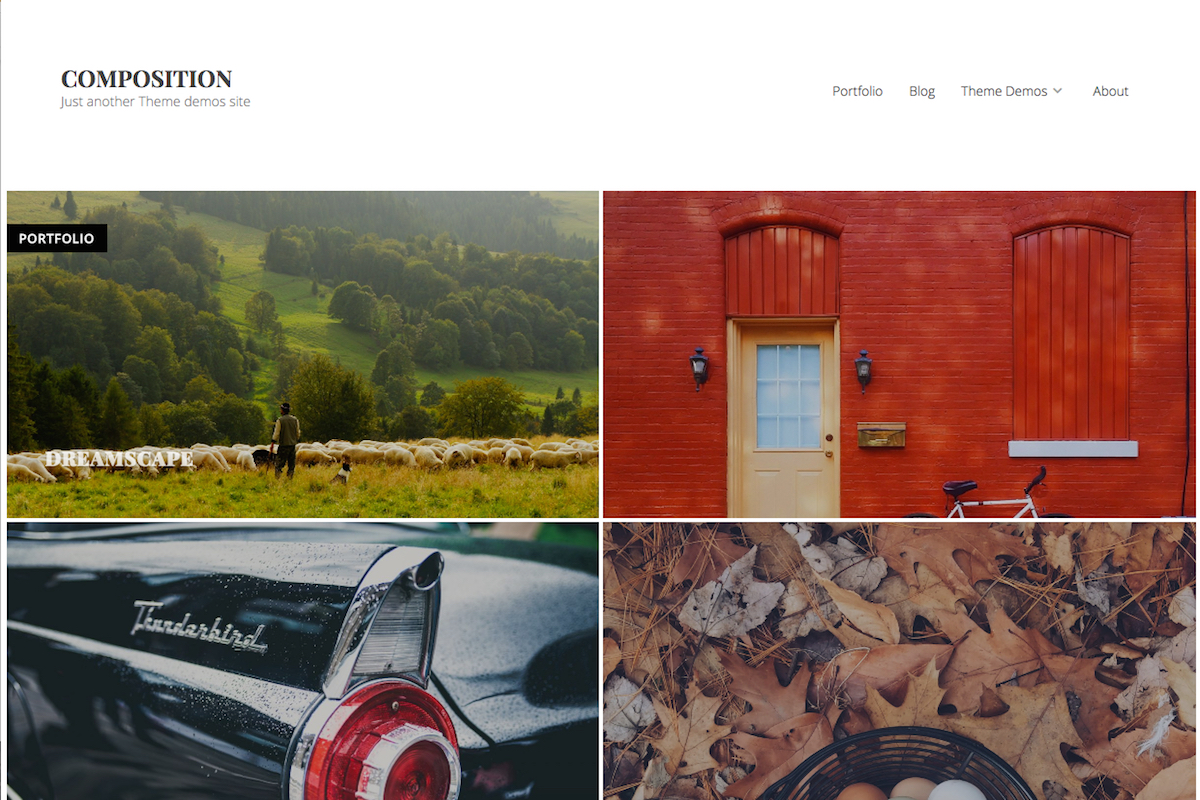 Multipurpose WordPress theme for portfolios