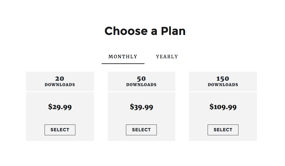 subscription pricing