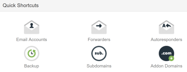The option to add a subdomain via cPanel.