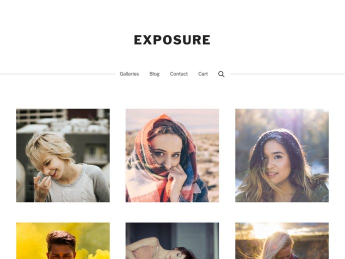 exposure wordpress theme