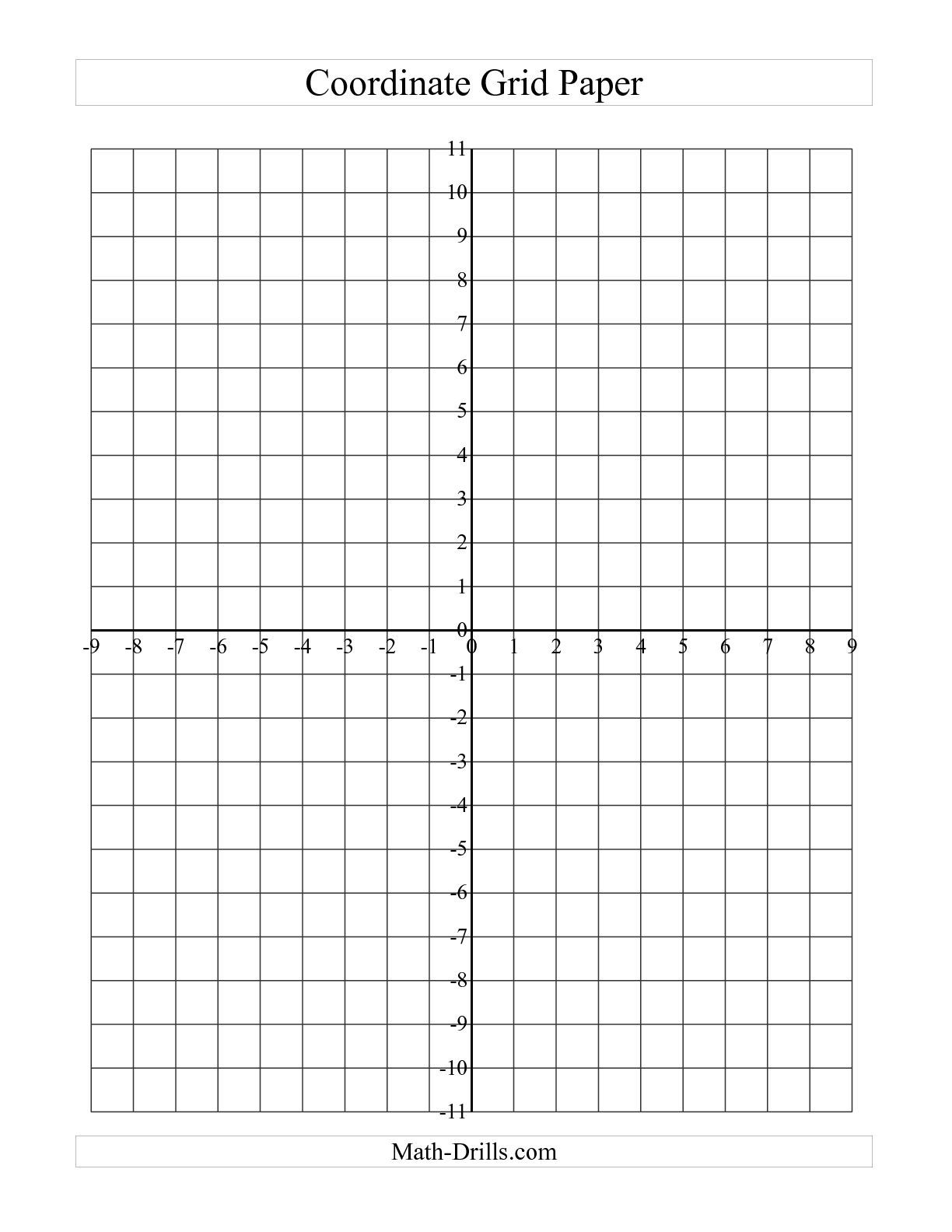 Free Printable Coordinate Graph Paper Template