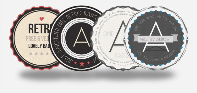 Premium Retro Design Badges