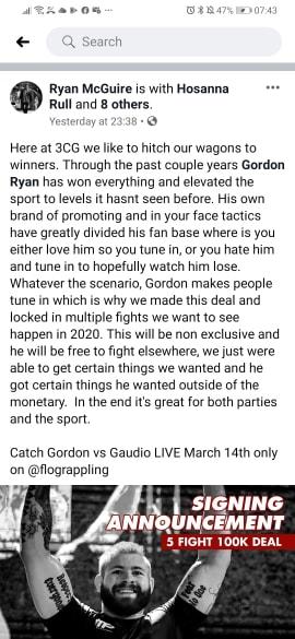 Ryan Mcguire on Gordon Ryan Signing