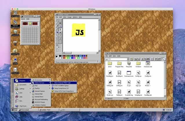 A Slack developer has released Windows 95 as an app to run on Windows, Mac or Linux.