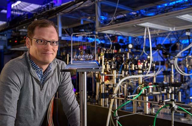 Stanford's Benjamin Lev in the lab