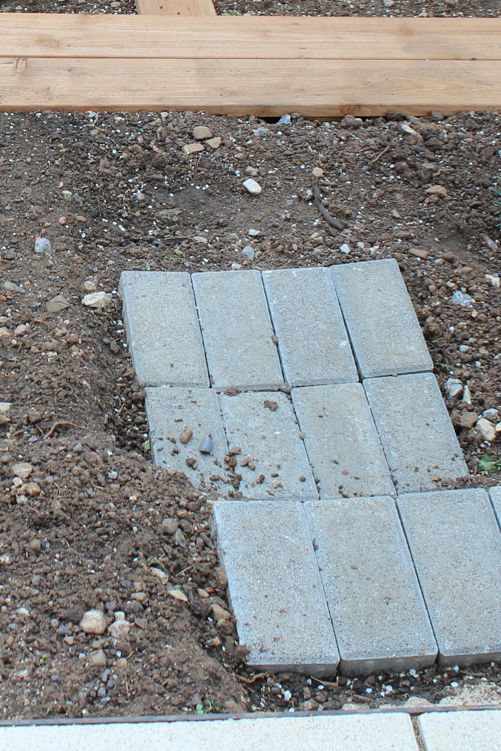 (c) Grashüpfer, Gemüsebeet - Stufen bauen