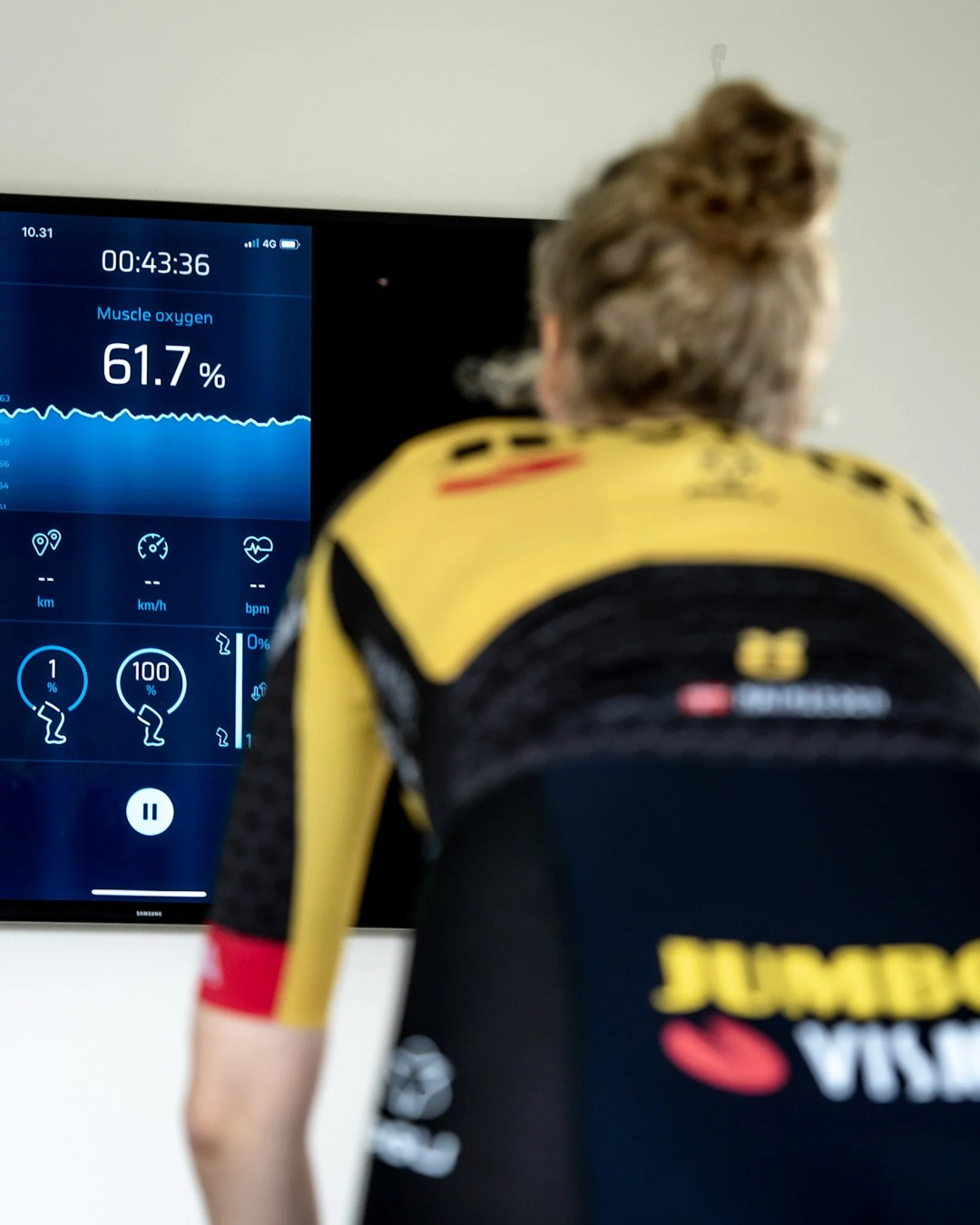 Warming up: Cycling intervals