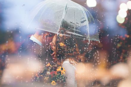 Rain can add a romantic mood to any scene.