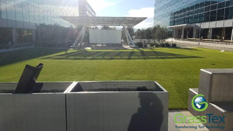 America Center office complex installation by Replicated Grass Systems