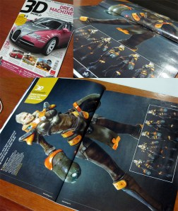 3D Art Mag double spread page 2010